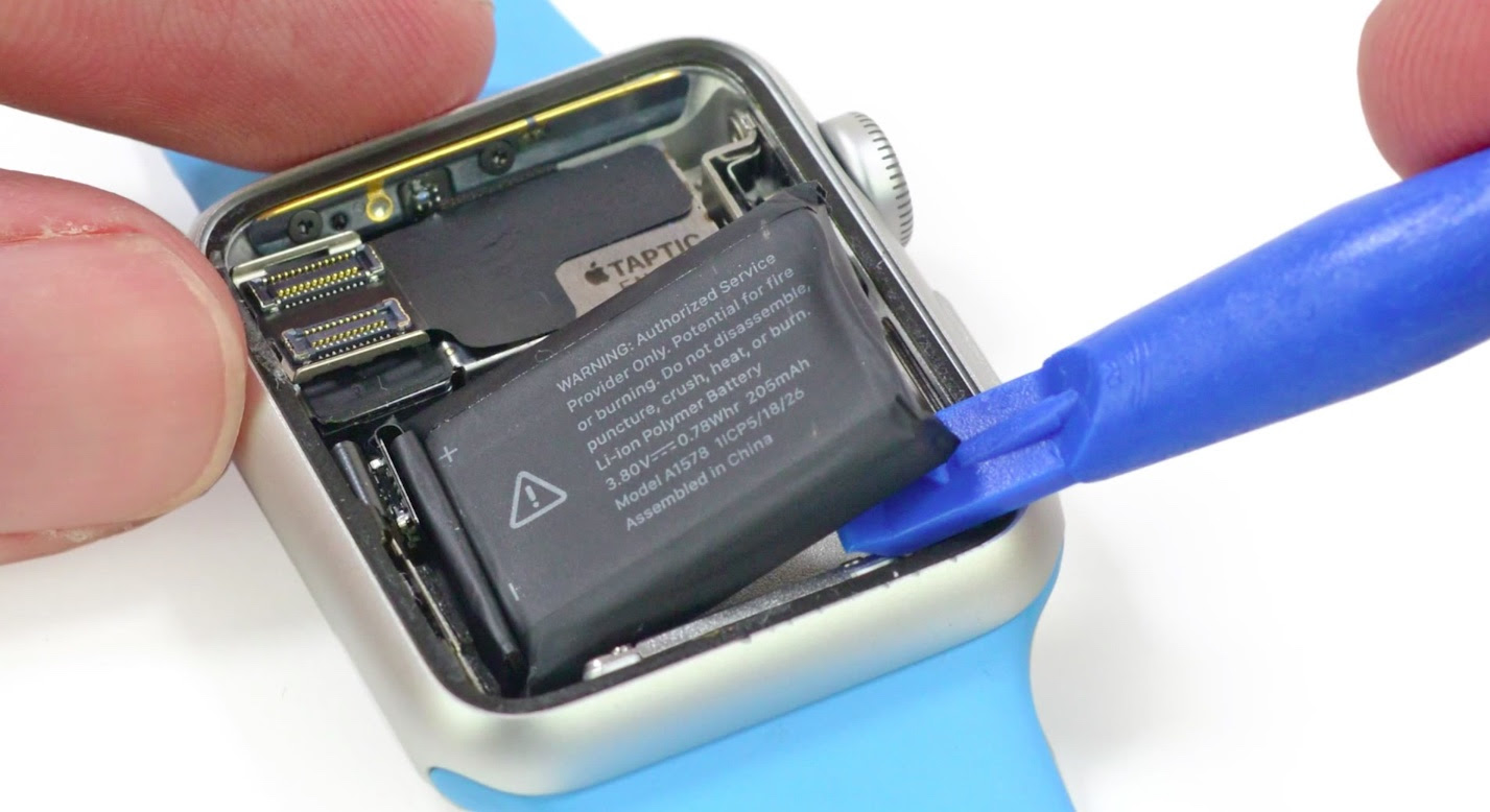 38mm Apple Watch Sport component costs estimated to begin at $81.20