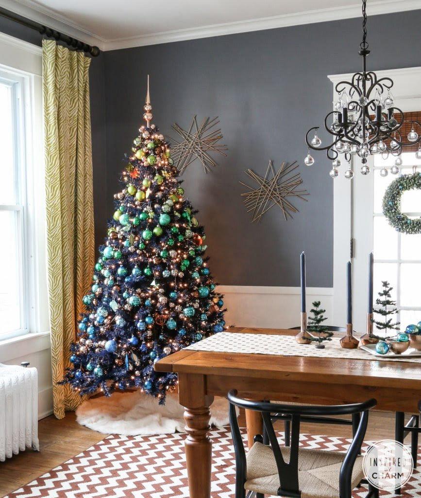 Blue and Green Ombre Tree...So unique from Inspired by Charm | Friday Christmas Favorites at www.andersonandgrant.com