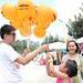 Kid getting balloon