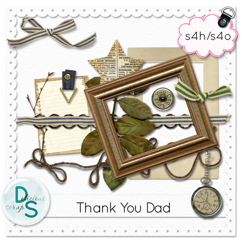 "Delicious Scraps: • New ""Thank You Dad"" Add-On and *Re-upload* •"
