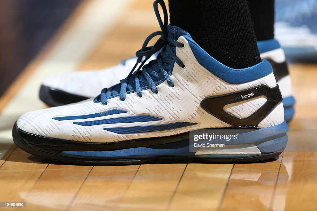 1ed260c759c195 The shoes of Andrew Wiggins 22 of the Minnesota Timberwolves during