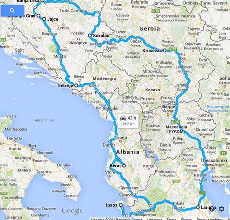 Albanija Turisticka Karta   karta
