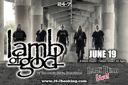 Lamb Of God ticket give away