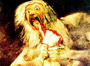 Saturno Devorando um de seus Filhos', de Francisco de Goya