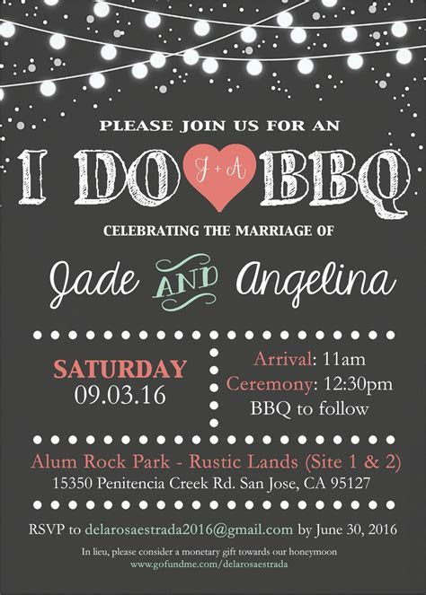 I Do BBQ Wedding Invitation! For orders or inquiries Email
