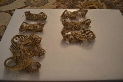 How to make a gift bow. Diy Burlap Gift Bow Tutorial - Step 4