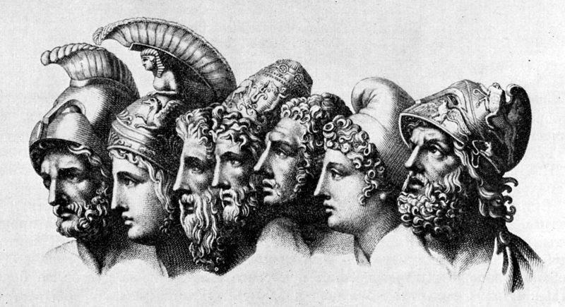 Los héroes de la Iliada por Tischbein