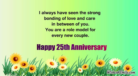 25th Anniversary Wishes for Uncle and Aunty | Wishes4Smile
