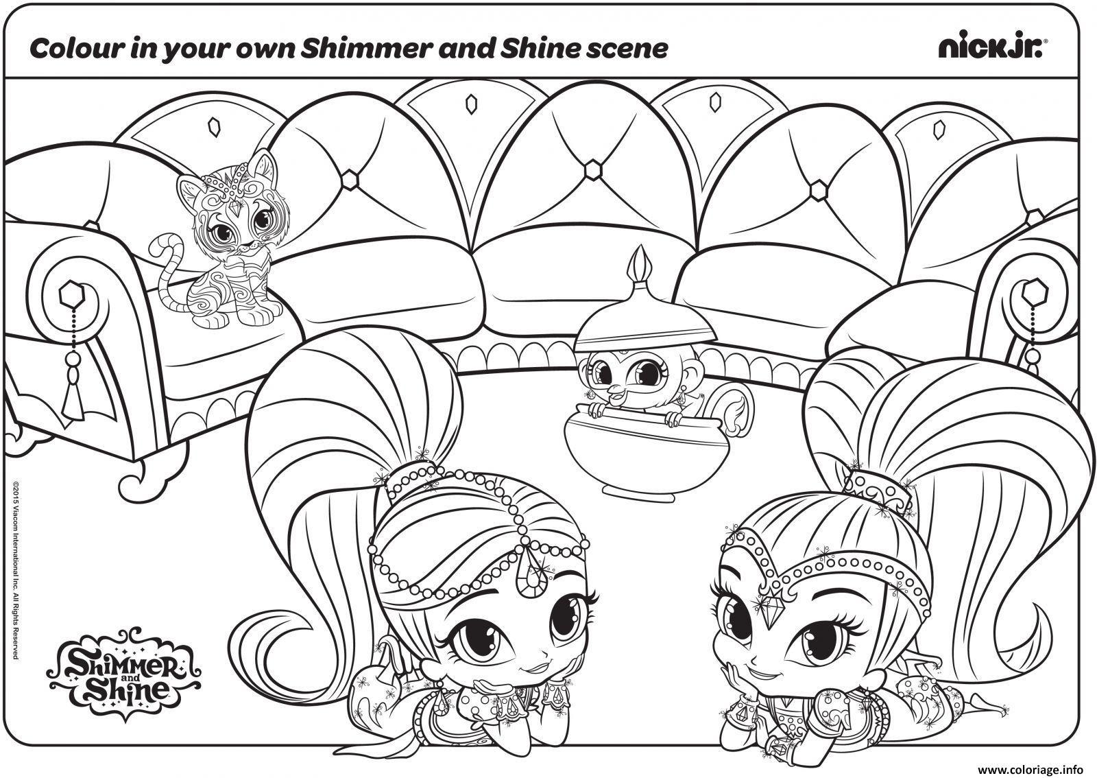 Coloriage New Shimmer Et Shine Dessin  Imprimer