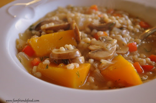 Mushroom Barley Soup with Extra Veggies