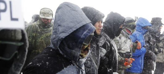 Army Veterans Return to Standing Rock to Form a Human Shield Against Police