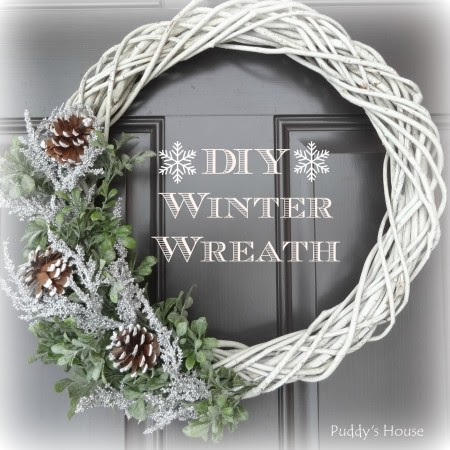 DIY Winter Wreath Header - Puddy's House