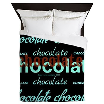 Celebrate Dark Chocolate Queen Duvet