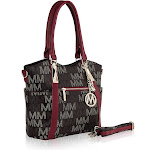 MKF Collection Jeneece M Signature Tote Bag by Mia K. Farrow - Red