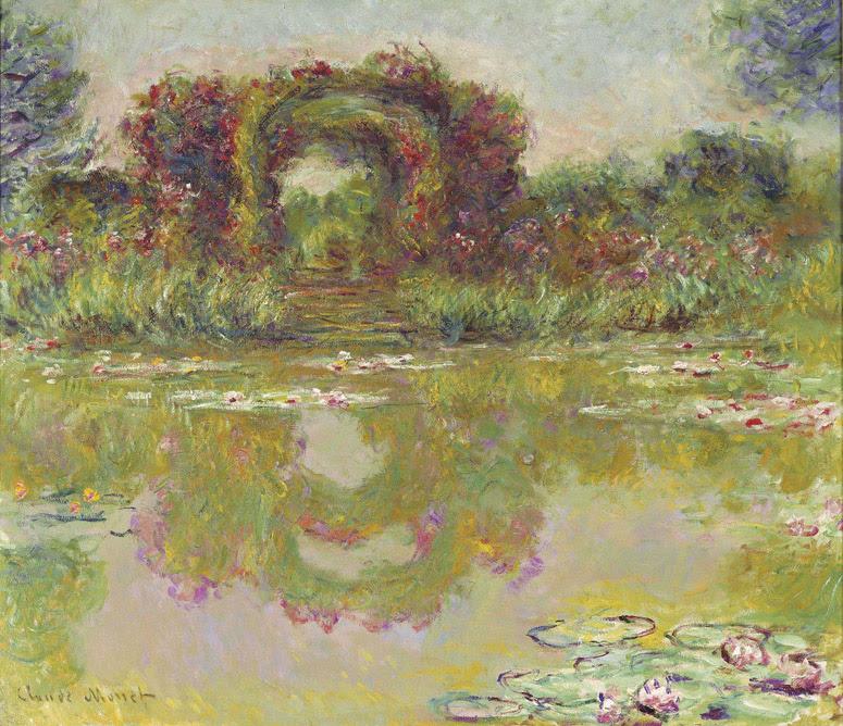 Claude Monet Les arceaux de roses, Giverny (Les arceaux fleuris). 1913