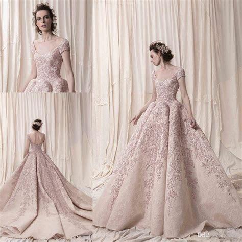 Arab Dubai Short Sleeves Ball Gown Luxury Embroidery