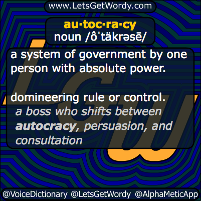 autocracy 03/08/2014 GFX Definition