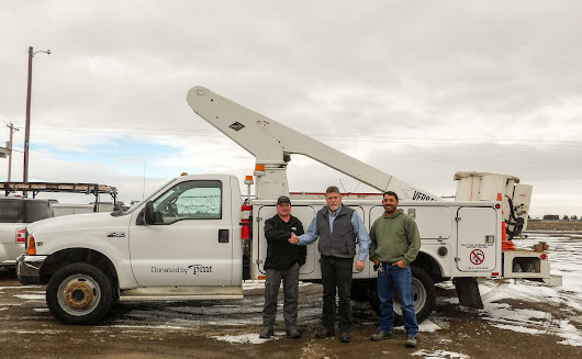 PMT Donates Bucket Truck to the City of Paul | PMT