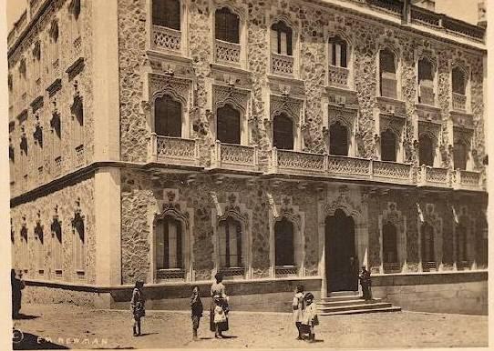 Hotel Castilla hacia 1910. Foto E. M. Newman