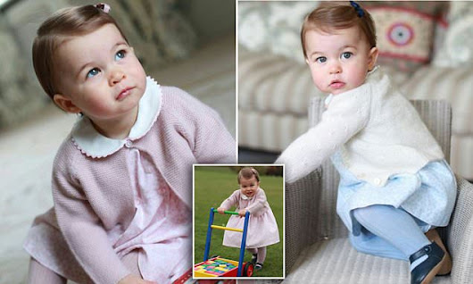 Princess Charlotte in new pictures released to mark her first birthday