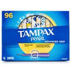 Tampax Pearl Advanced Grip Tampons Regular, 96-Count