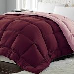 Blue Ridge Home Fashions Micro Fiber Down Alternative Comforter - TWIN Burgundy to Mauve DA/C-17
