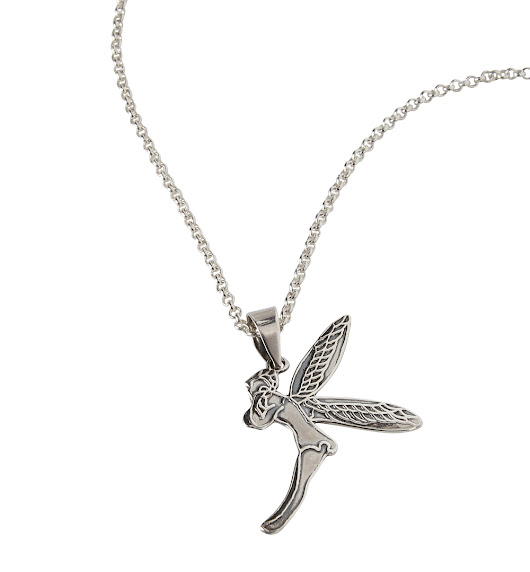 925 Sterling Silver Fairy Pendant