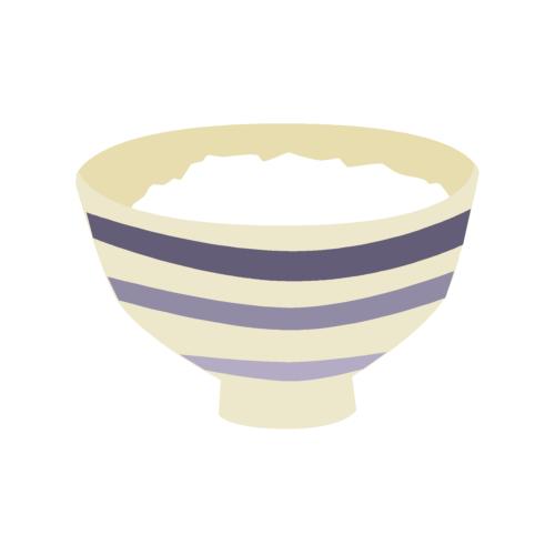 ごはん茶碗の無料イラストオーフリー写真素材