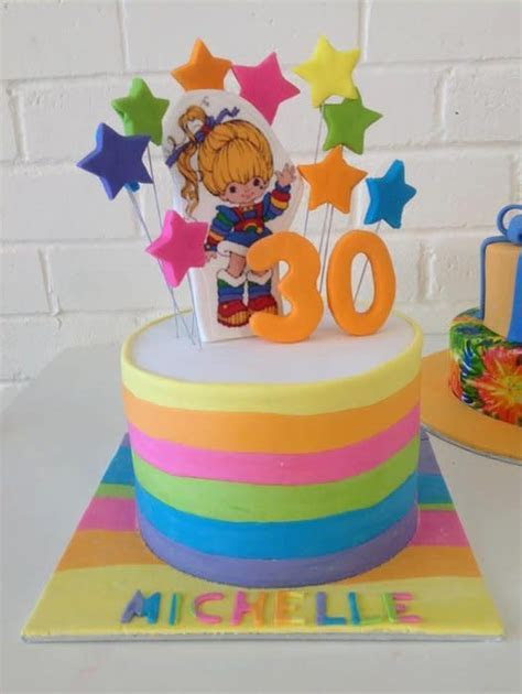 Rainbow Brite   cake by Kathy Cope   CakesDecor