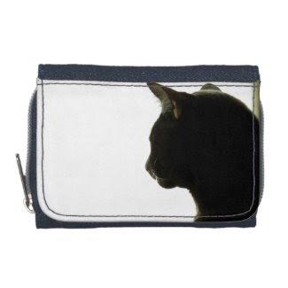Black Cat 3 Tri-fold Wallets