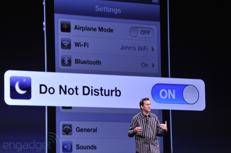 'Do No Disturb' disturbances with Apple's iOS 6 Part 2