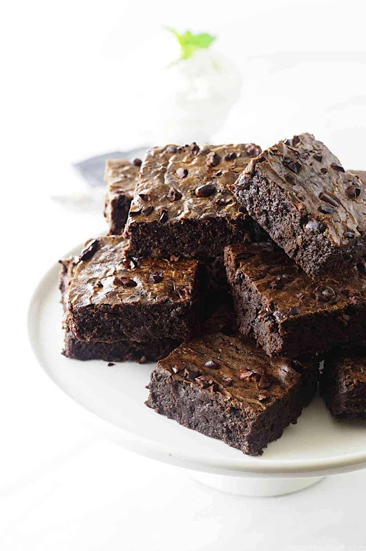 Einkorn Brownies with Cocoa Nibs - Savor the Best