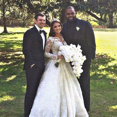 The real SJ Tuohy, Collins Tuohy and Michael Oher on