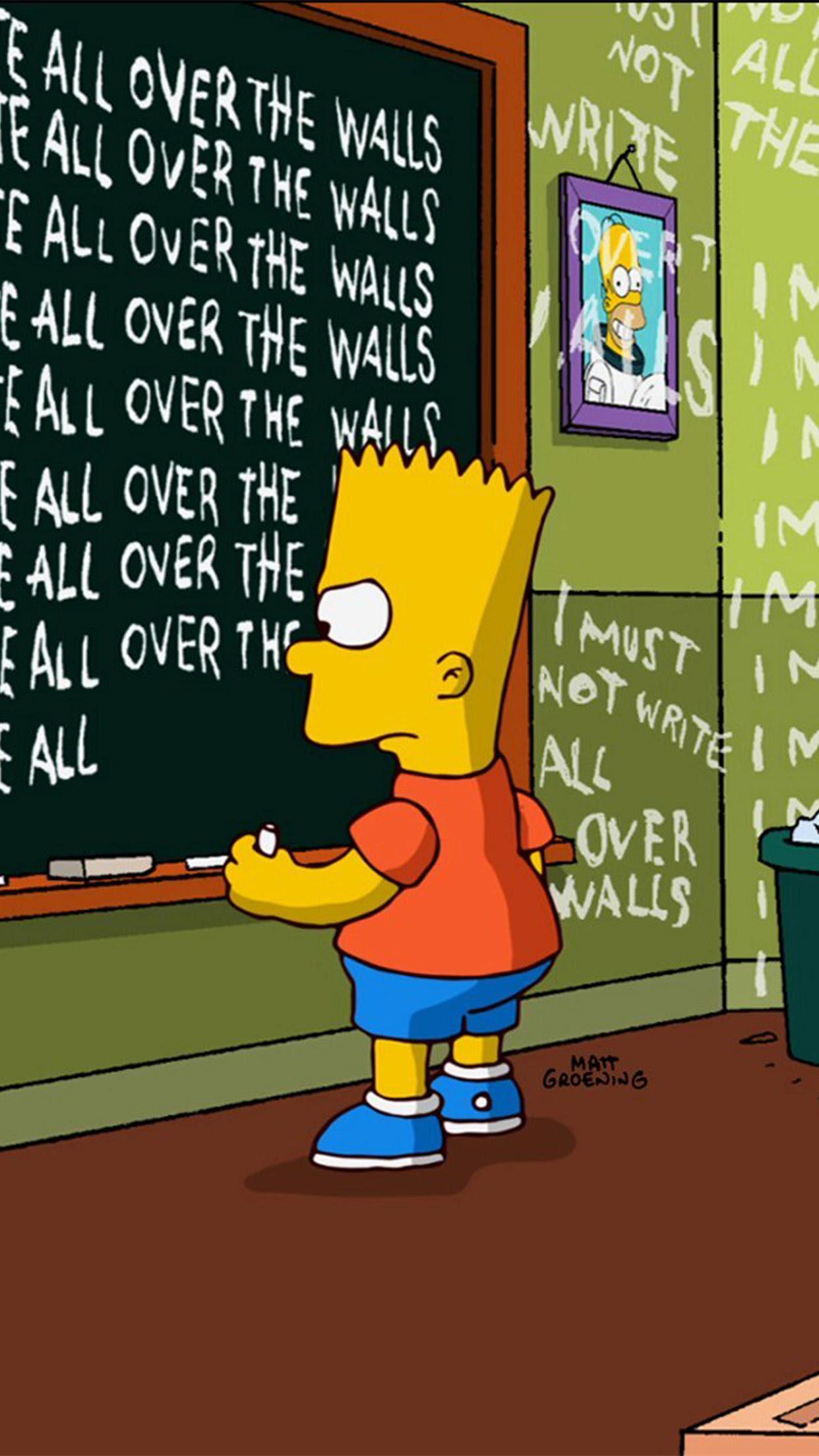 Cool Wallpaper Cool Supreme Bart Simpson Wallpapers