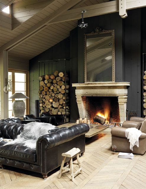 from Modern Country Style blog: Leather Sofas: Make Them Work For You!