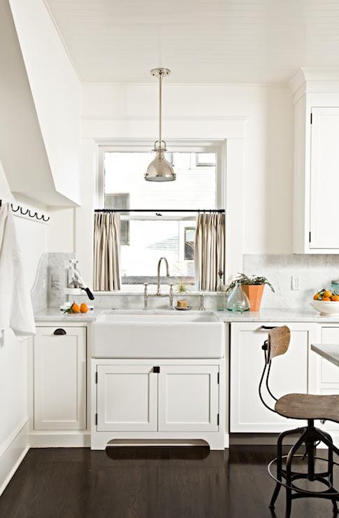 Kitchen Cafe Curtains - Transitional - kitchen - Jessica Helgerson ...
