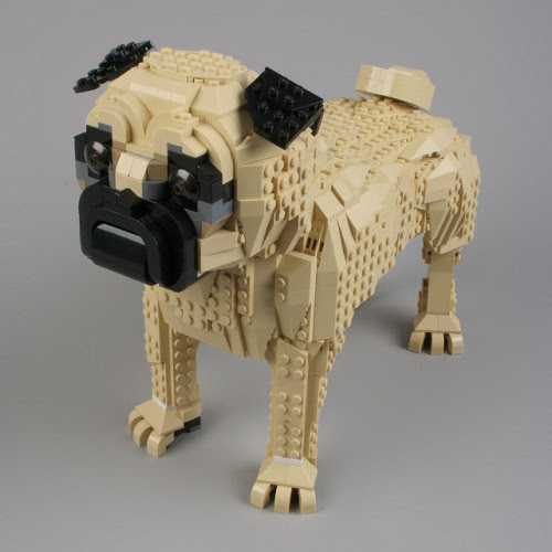These ridiculously cute LEGO pugs were created by professional...