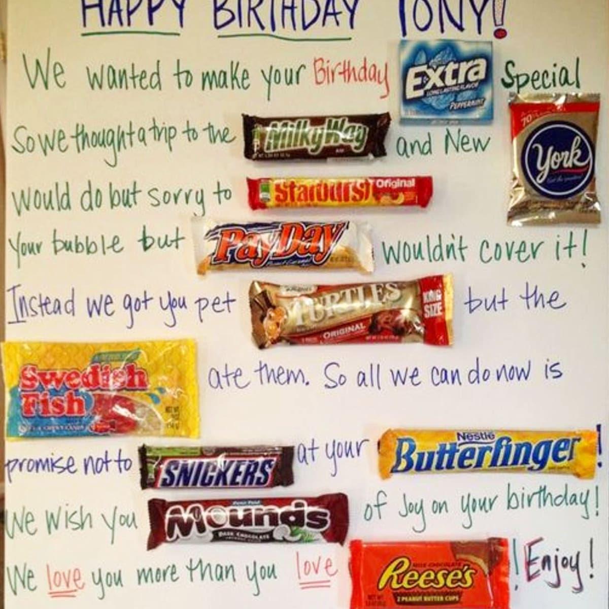 Smart Idea Candy Poster Ideas For Boyfriend