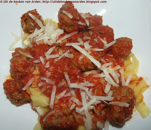 Pasta met tomatensaus