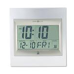 Howard Miller Techtime II Radio Controlled LCD Wall Table Alarm Clock