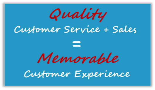 It's All About Customer Service AND Sales