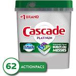 Cascade Platinum ActionPacs Dishwasher Detergent - Fresh - 62ct
