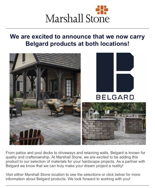 Now Carrying Belgard Products in Both Our Locations