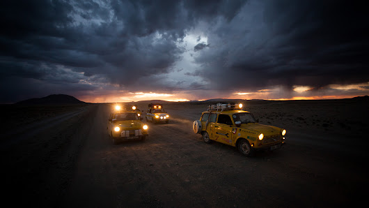 Trabants at the end of the world. A journey through South America by Trabant, Fiat and Bike