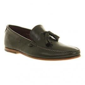 Poste Lorenzo Tassle Loafer Black Leather
