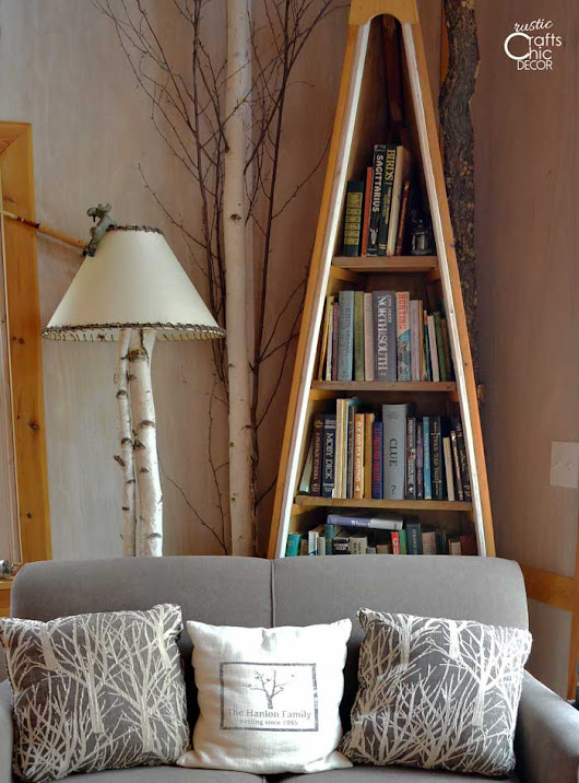 Unique DIY Rustic Bookcases And Shelves - Rustic Crafts & Chic Decor