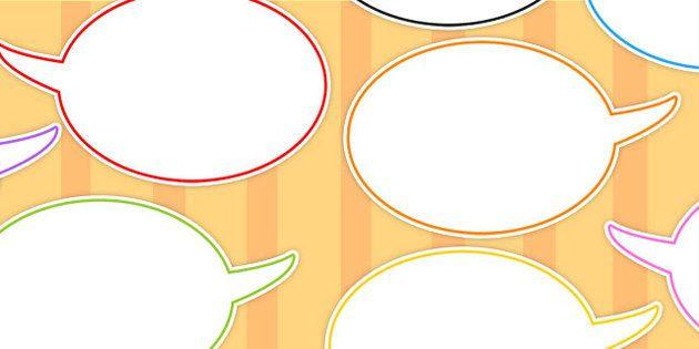 Editable Speech Bubbles - speech, bubbles, editable, bubble ...