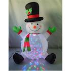 Santas Forest 90323 Christmas Inflatable Snowman, 4'