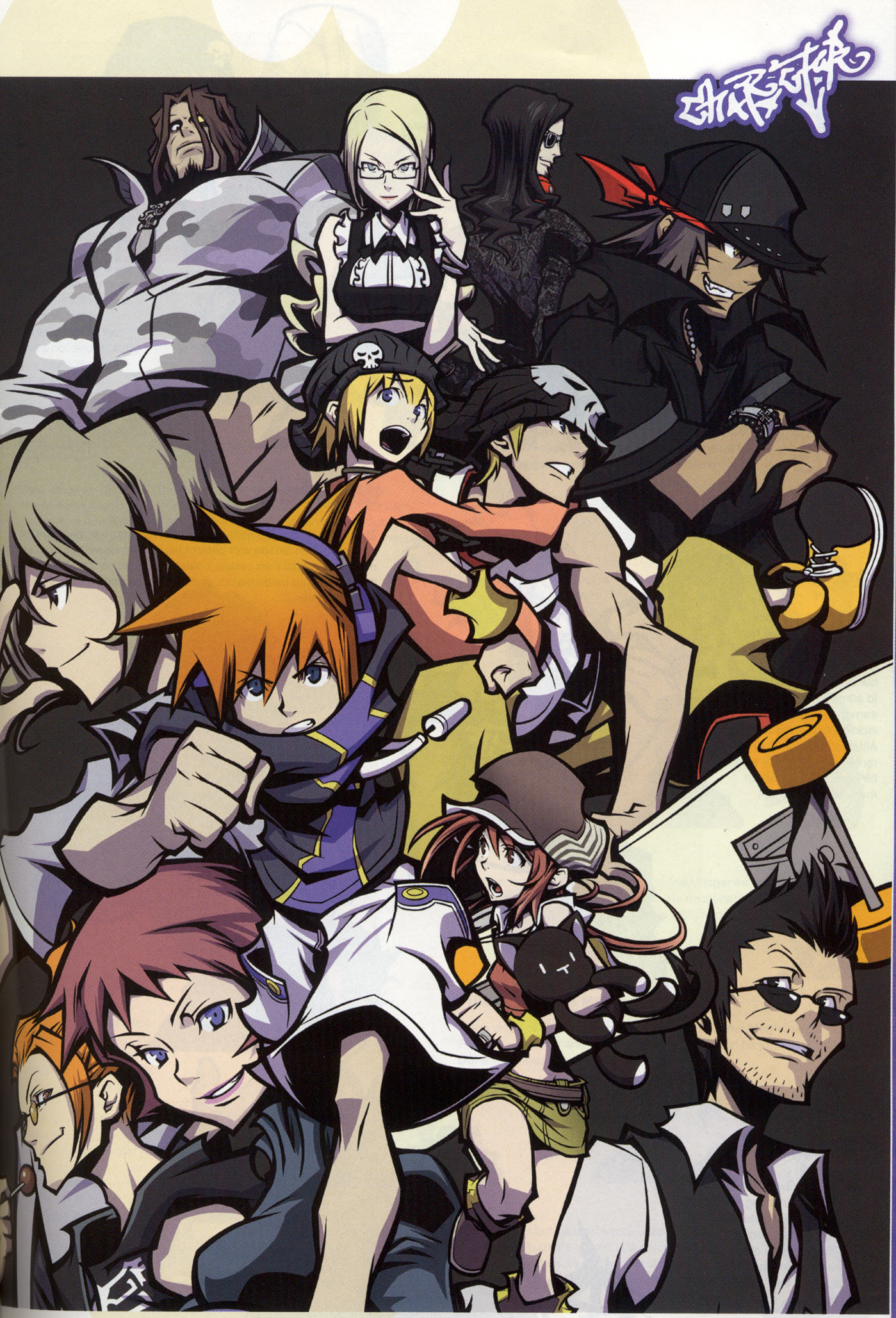 The World Ends With You Wallpaper And Scan Gallery Minitokyo