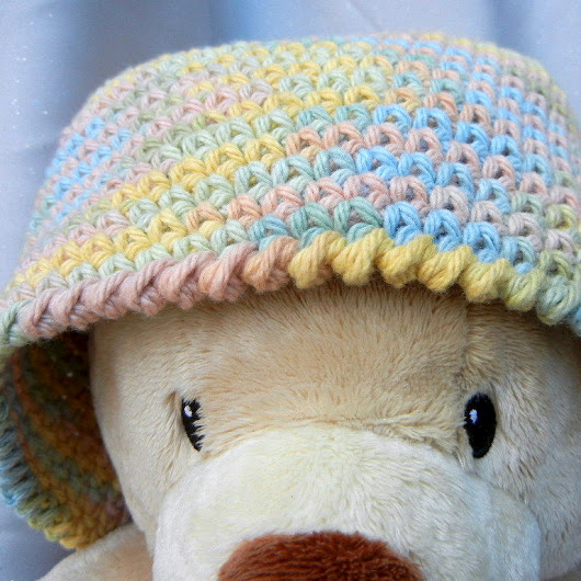 Crochet Hat Beanie Muted Pastel
